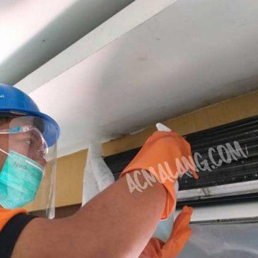 Project Pengerjaan Jasa Service AC dengan Disinfektan